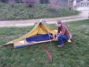 La tente dans toute sa splendeur !